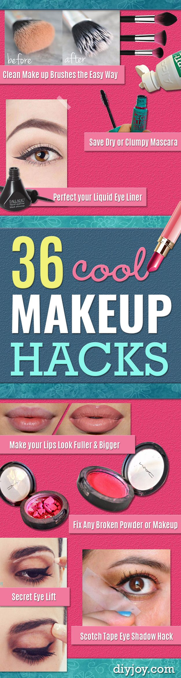 These clever makeup hacks will make you look stunning easily and in less time.