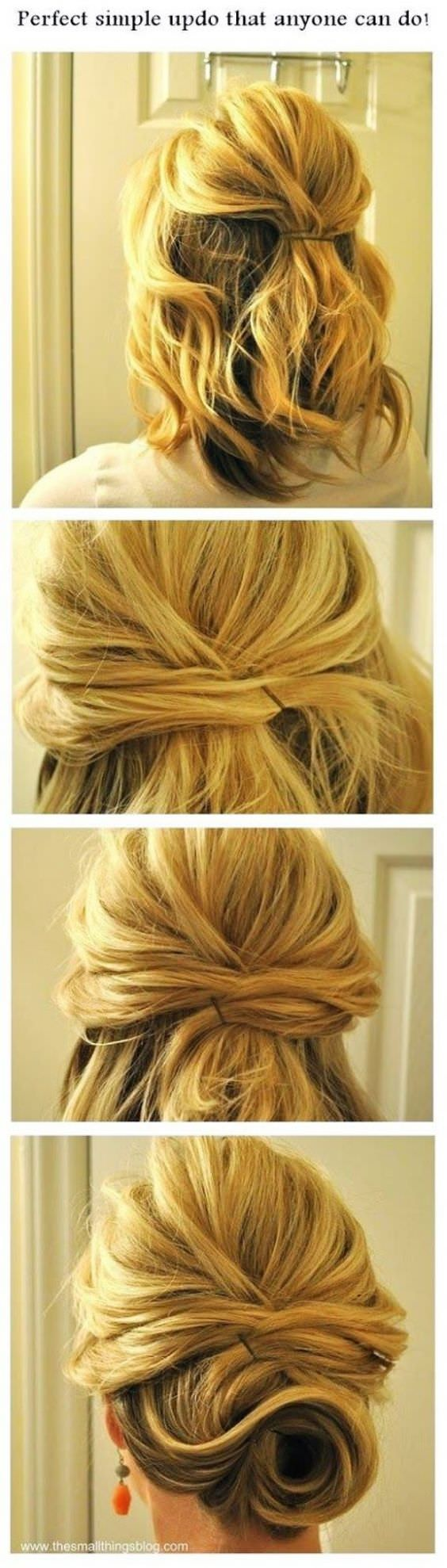 15 Cute and Easy Hairstyle Tutorials For Medium-Length Hair - Fashion Daily