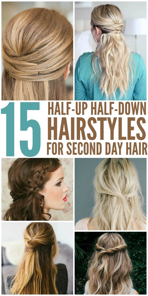 15 Simple Hairstyles That Are Half Up Half Down Fashion