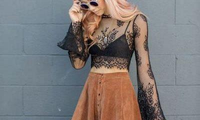 Sheer-blouse